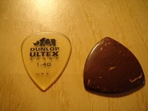 Rocky Mountain Slides Coconut husk guitar pick