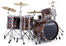 Sonor Ascent Jazz Set - Chrome & Ebony Stripes