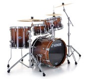 Sonor Ascent Studio Set - Chrome & Burnt Fade