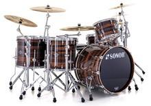 Sonor Ascent Studio Set - Chrome & Ebony Stripes