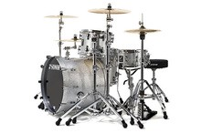 Sonor ProLite Studio 1 Shell Set - Stain High Gloss Silver Sparkle
