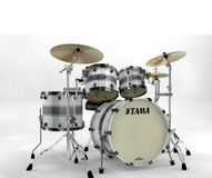 Tama Starclassic Maple SILVER SNOW RACING STRIPE