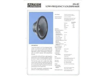 Altec Lansing 416-8C