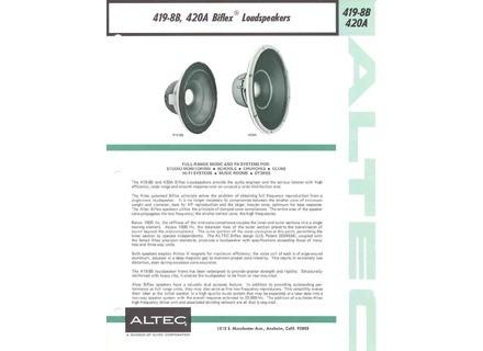 Altec Lansing 419 - 8B , 420 A
