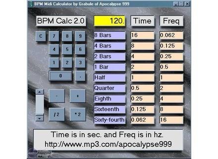 Apocalypse999 BPM Midi Calculator 2.0