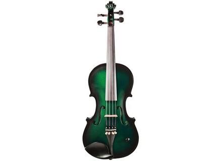 Barcus Berry Metallic Green Burst Vibrato Acoustic-Electric Violin