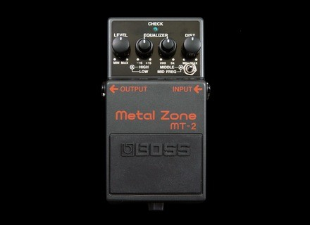 Boss MT-2 Metal Zone - Twilight Zone - Modded by Keeley