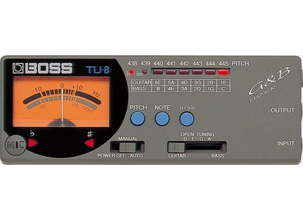 Boss TU-8 Guitar & Bass Tuner
