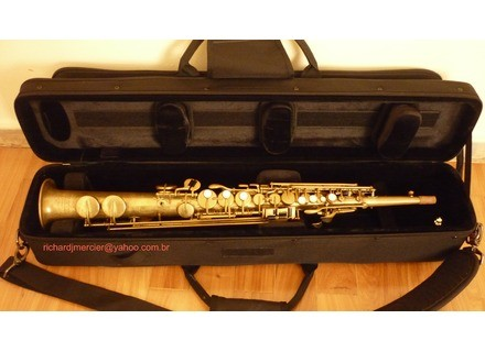 "Buescher Saxophone soprano True tone ""bare brass"" 1927"