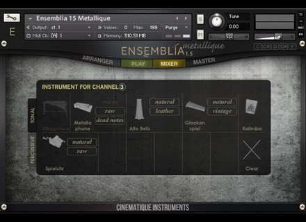 Cinematique Instruments Ensemblia Metallique