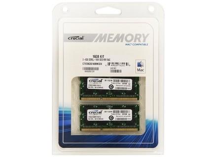 Crucial 16GB Kit (2x8GB) DDR3 1600MT/s