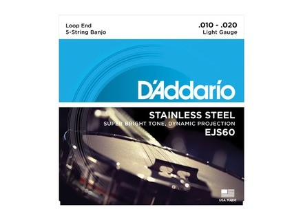 D'Addario Stainless Steel Wound Banjo