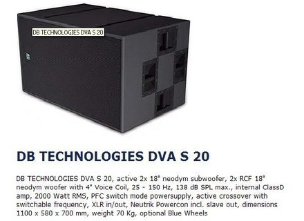 dB Technologies DVA
