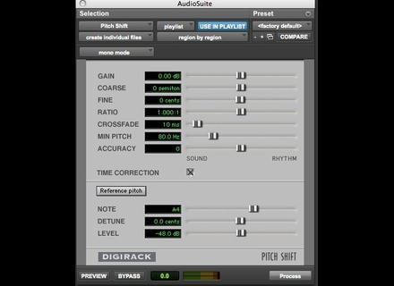 Digidesign DigiRack Pitch Shift