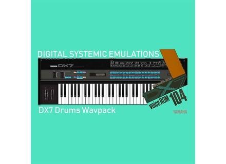 Digital Systemic Emulations DX7 Drums Wavpack (VCR-104)