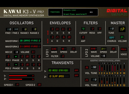 Digital Systemic Emulations K3-V Extended