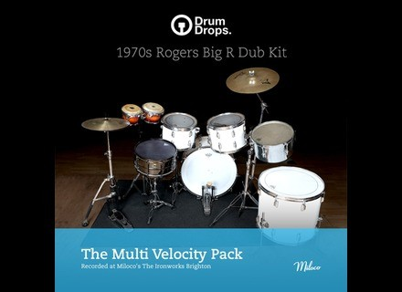Drumdrops 1970s Rogers Big R Dub Kit - Multi Velocity Pack