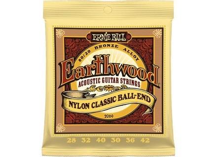 Ernie Ball EarthWood 80/20 Bronze Nylon Classic Ball-End