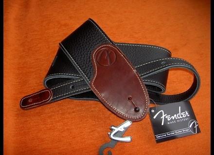 "Fender 3"" F Custom HQ Leather Guitar Strap"