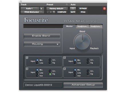 Focusrite RTAS MixControl