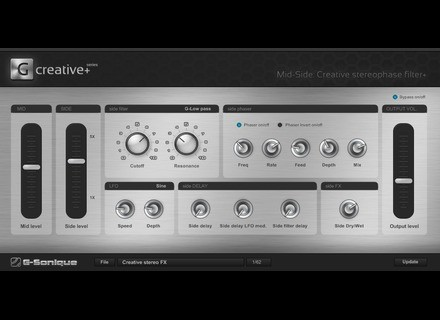 G-Sonique Mid-Side: Creative Stereo-Phase filter+