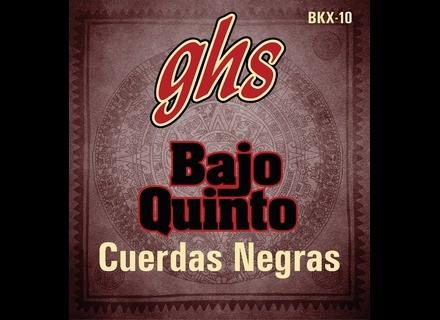 GHS Bajo Quinto Cuerdas Negras BKX-10