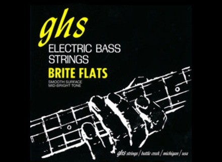 """GHS Brite Flats Short Scale (32.75"""" winding)"""
