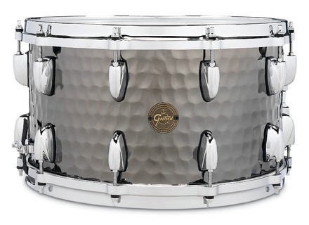 Gretsch Full Range Hammered Black Steel Snare 8x14""