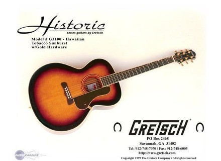 Gretsch G3100 Hawaiian - Tobacco Sunburst