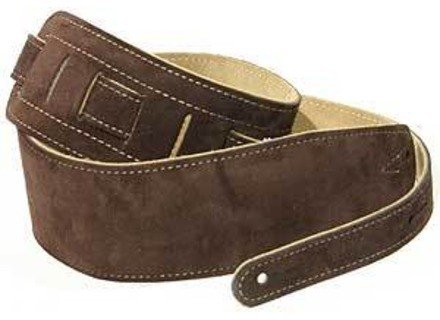 Harley Benton Brown Suede Leather Guitar Strap