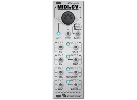 Hexinverter Midi2Cv