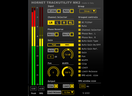 Hornet Plugins TrackUtility mk2