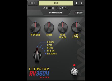 Kuassa Efektor RV3604 Reverb