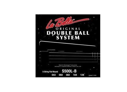 La Bella S500L-B Flat Wound double ball