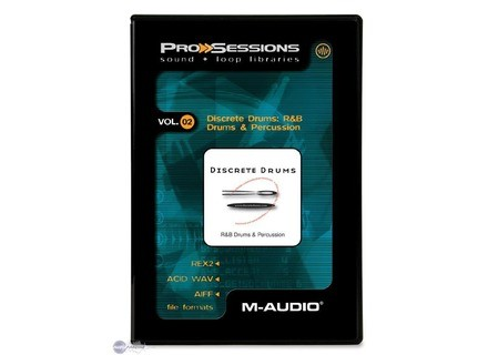 M-Audio ProSessions Vol. 02 — Discrete Drums: R&B Drums and Percussion
