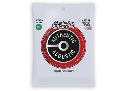 Martin & Co Authentic Acoustic 92/8 Phosphor Bronze Lifespan 2.0 Strings
