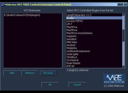 Midevice VST MIDI Control Extension