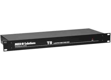 Midi Solutions T8 8-output MIDI Thru Box