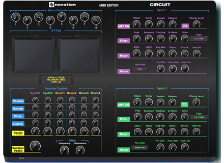 Momo Novation Circuit Midi Editor/Remote/Controller