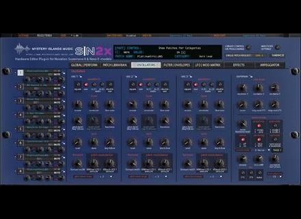 Mystery Islands Music Novation SN2X Librarian Editor