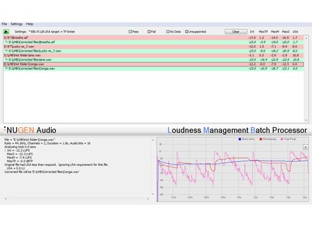 Nugen Audio LMB - Loudness Management Batch Processor