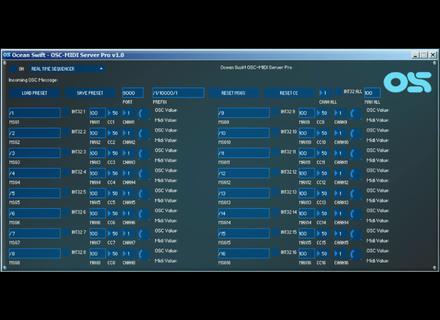 Ocean Swift Synthesis OSC Midi Server Pro