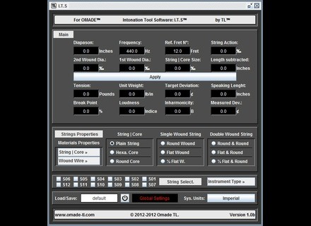OMADE Intonation Tool Software: I.T.S™