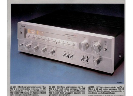 Philips AM/FM Stereo Receiver 682/683/684