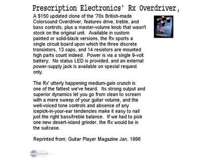 Prescription Electronics RX OVERDRIVER