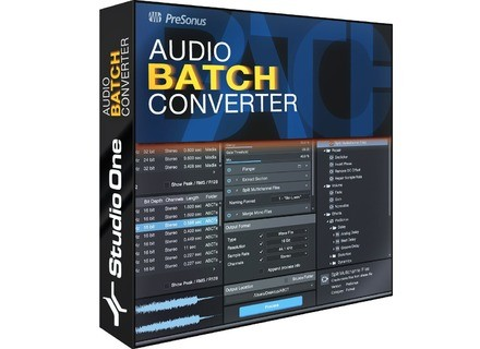 PreSonus Audio Batch Converter
