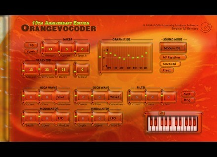 Prosoniq Orange Vocoder 10th Anniversary Edition