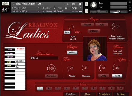Realitone Realivox The Ladies - Teresa