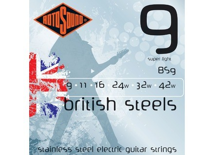 Rotosound British Steels BS9 9-42 Super Light