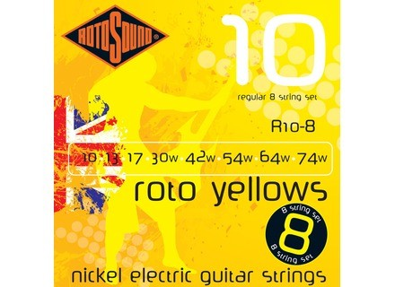 Rotosound Roto Yellows R10-8 10-74 Regular 8-String